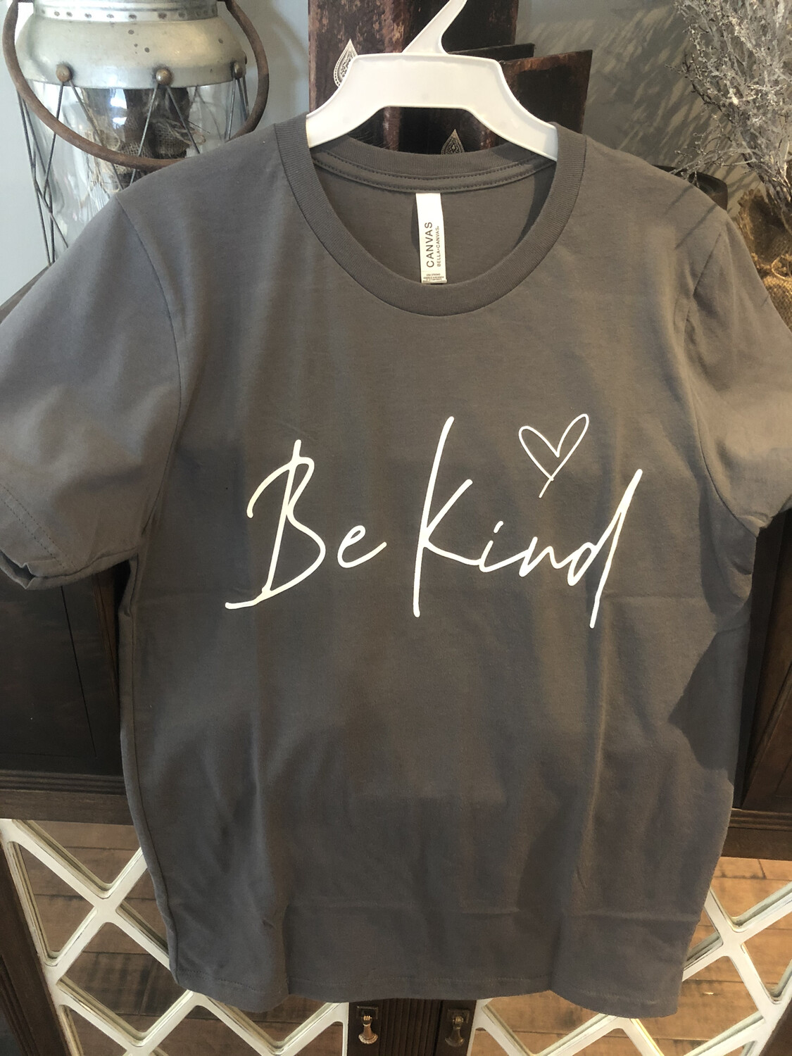 Be Kind Tee ~ charcoal grey