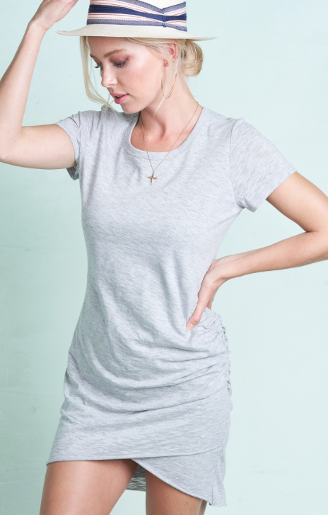 Everyday T-shirt Dress ~ light grey