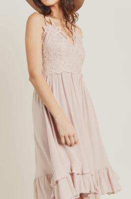 Breeze Midi Dress ~ dusty pink