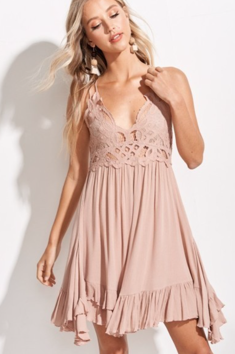 Breeze Slip Dress ~ taupe
