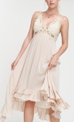 Breeze Midi Dress ~ oatmeal