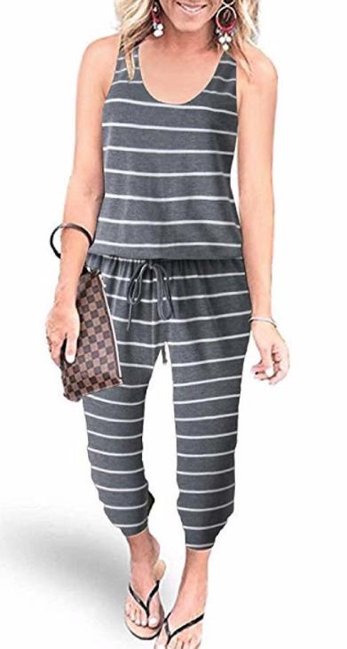 Simple Stripe Jumpsuit