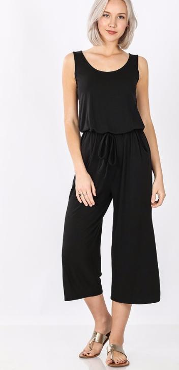 Little Crop Jumpsuit | black