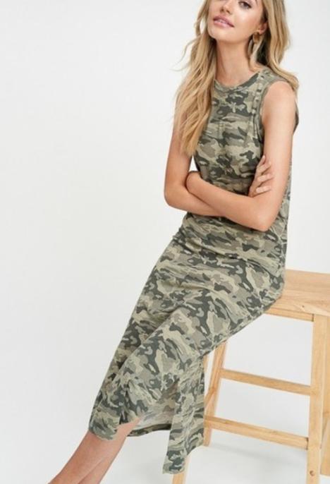 Simply Camo Midi dress