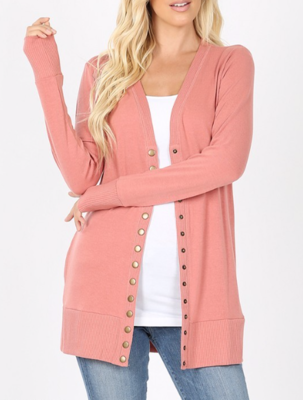 Button Me up ~ rose pink