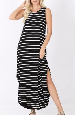 Casual Stripes Maxi ~ black
