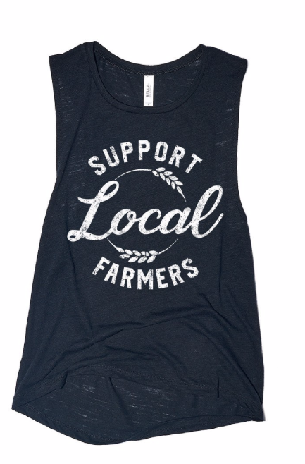Support Local Farmers ~ black