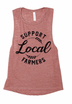 Support Local Farmers ~ mauve