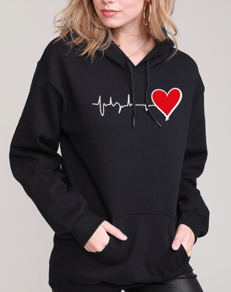 Hearts for HealthCare Hoodie ~ black