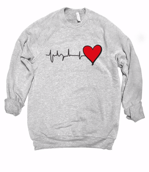Hearts for HealthCare Sweater ~ light grey