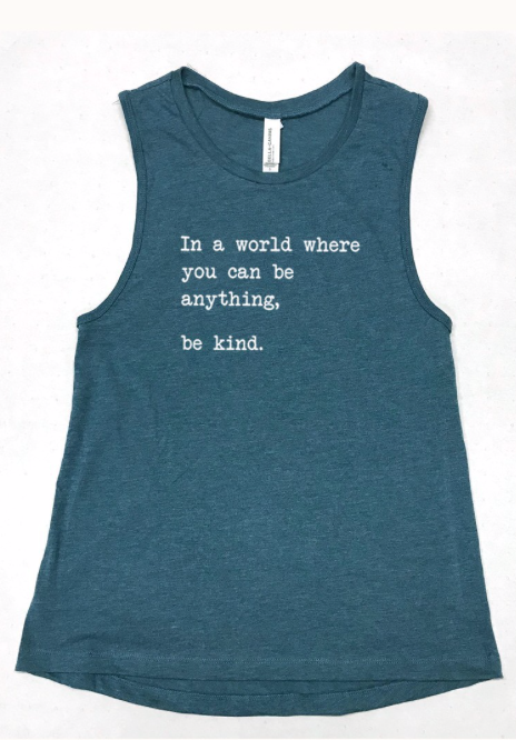 In a World... be kind ...   deep sea blue