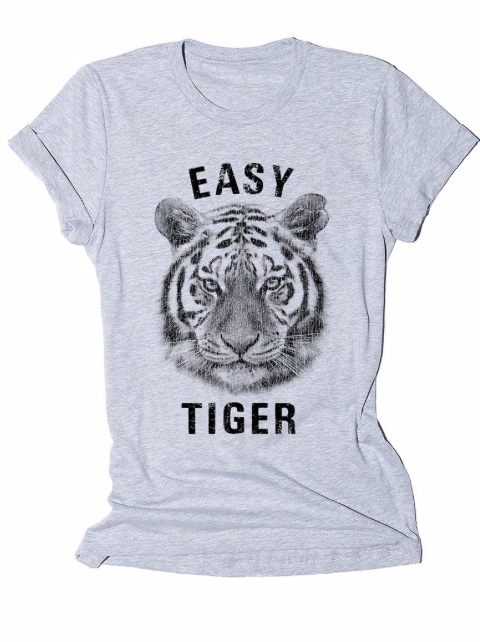 Easy Tiger Tee ~ heather grey