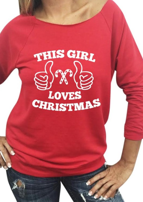 This girl LOVES Xmas ~ red