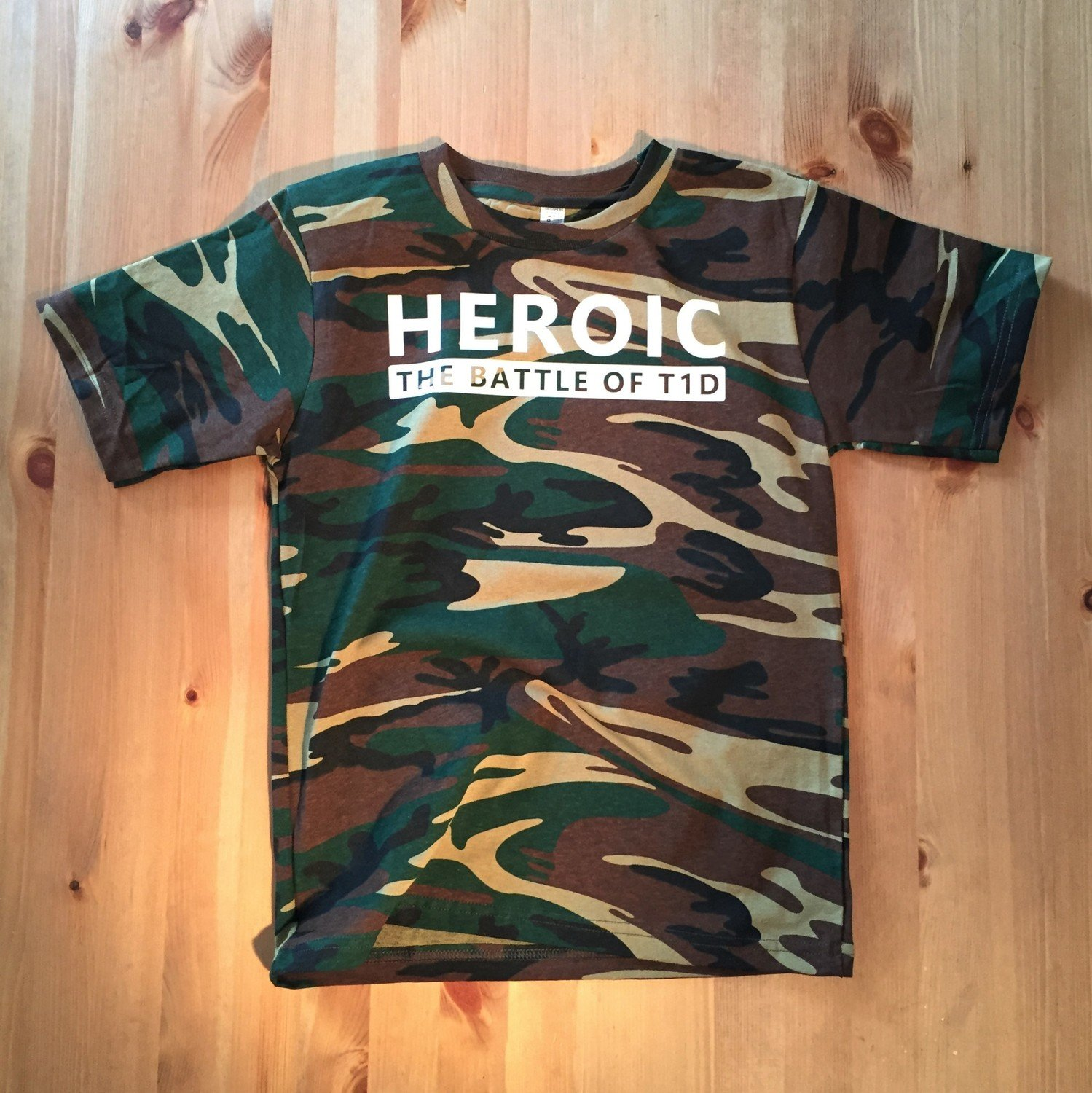 """Youth """"THE BATTLE OF T1D"""",  Camo T-Shirt"""