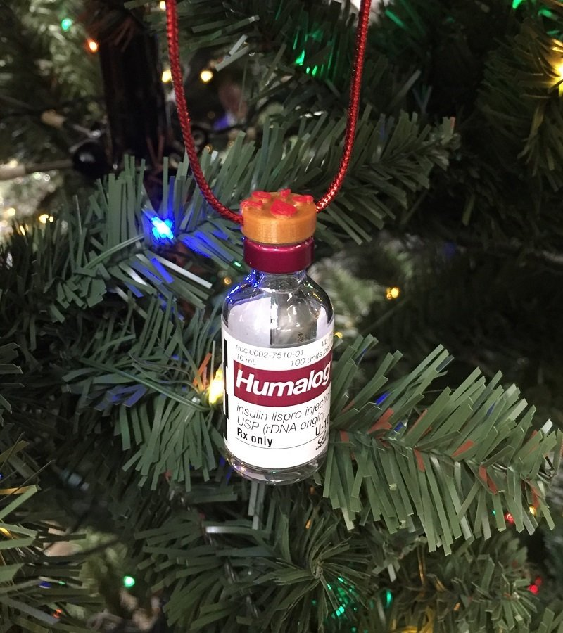 Insulin Vial Ornament Topper 2018