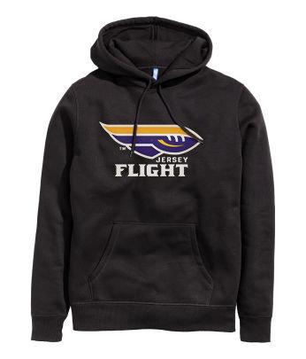 JERSEY FLIGHT Hoodie (Black) HOODBK17