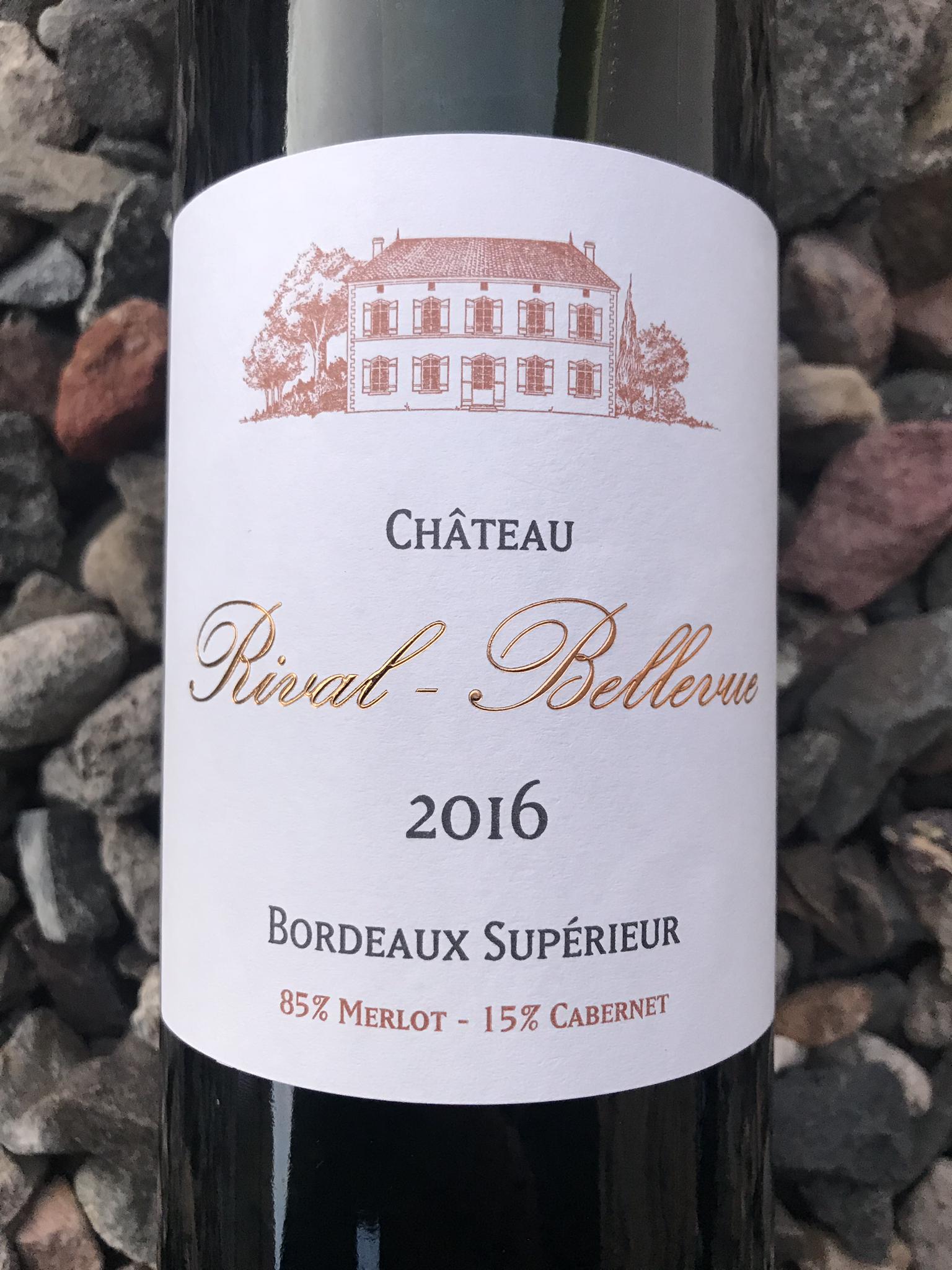 Chateau Rival-Bellevue Bordeaux Superior 2016