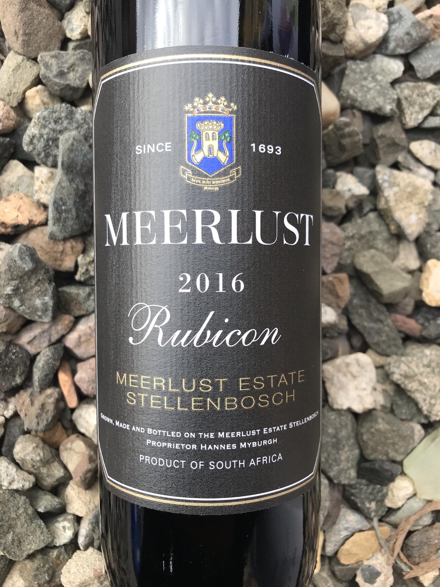 Meerlust Rubicon, 2016