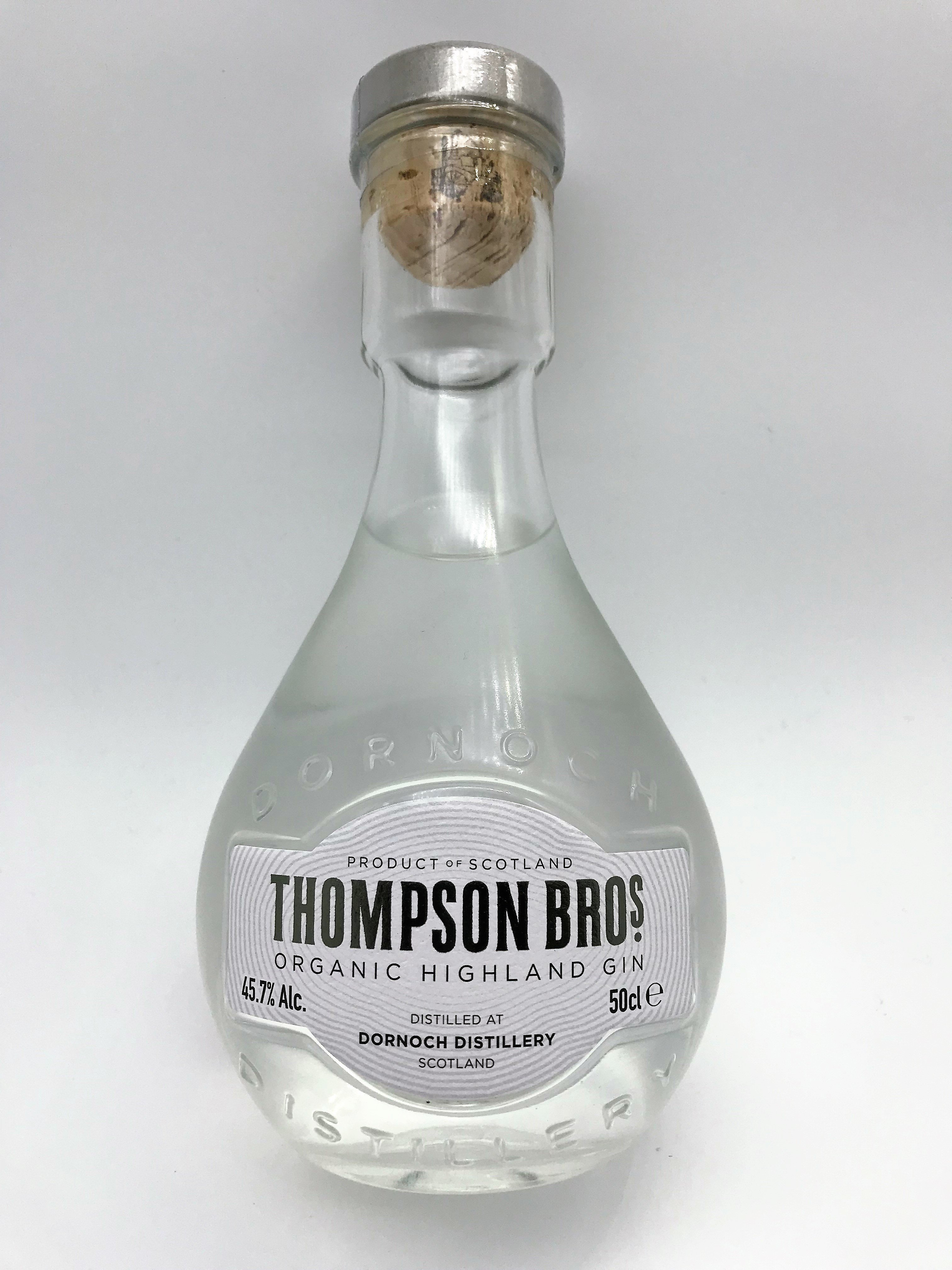 Thompson Brothers Organic Gin 50cl 00056