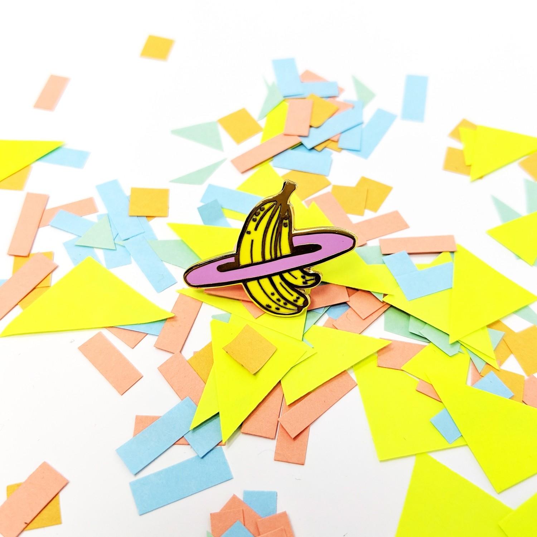 Galaxy Banana Pin