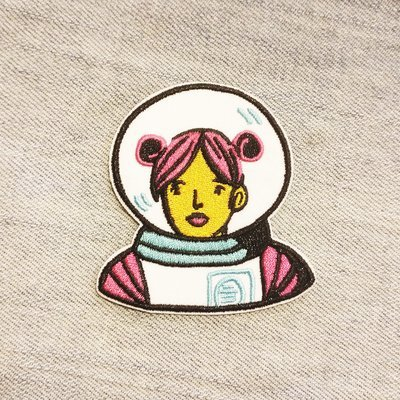 PINK ASTRONAUT PATCH