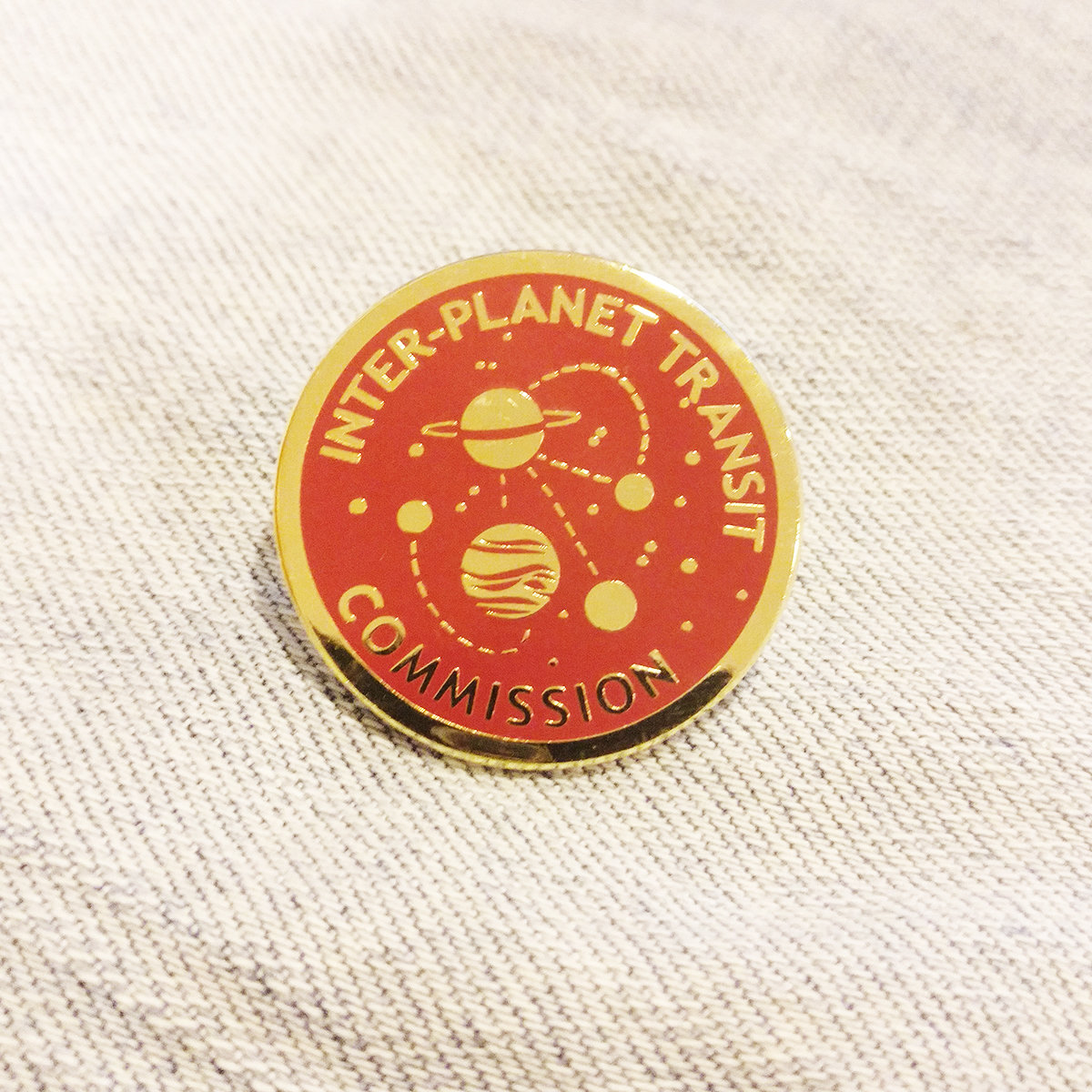 INTER-PLANET TRANSIT COMMISSION PIN