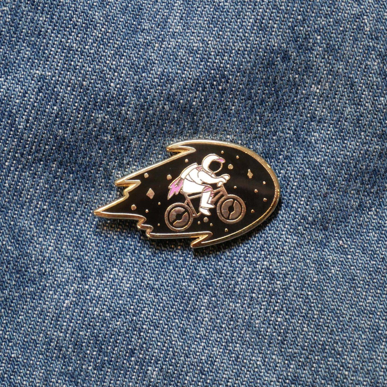 Biker Astronaut Pin