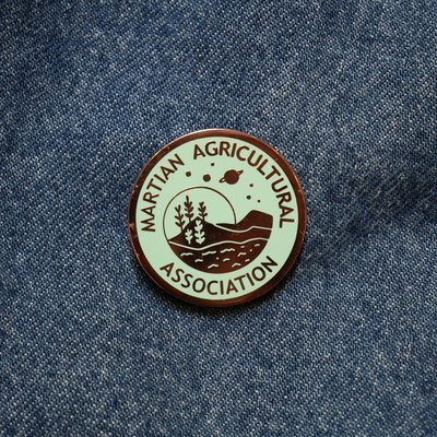 Martian Agricultural Association Pin