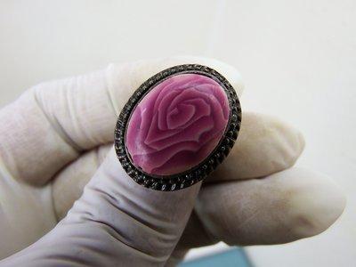 0002 - Bague - Rose Bordeaux et chair