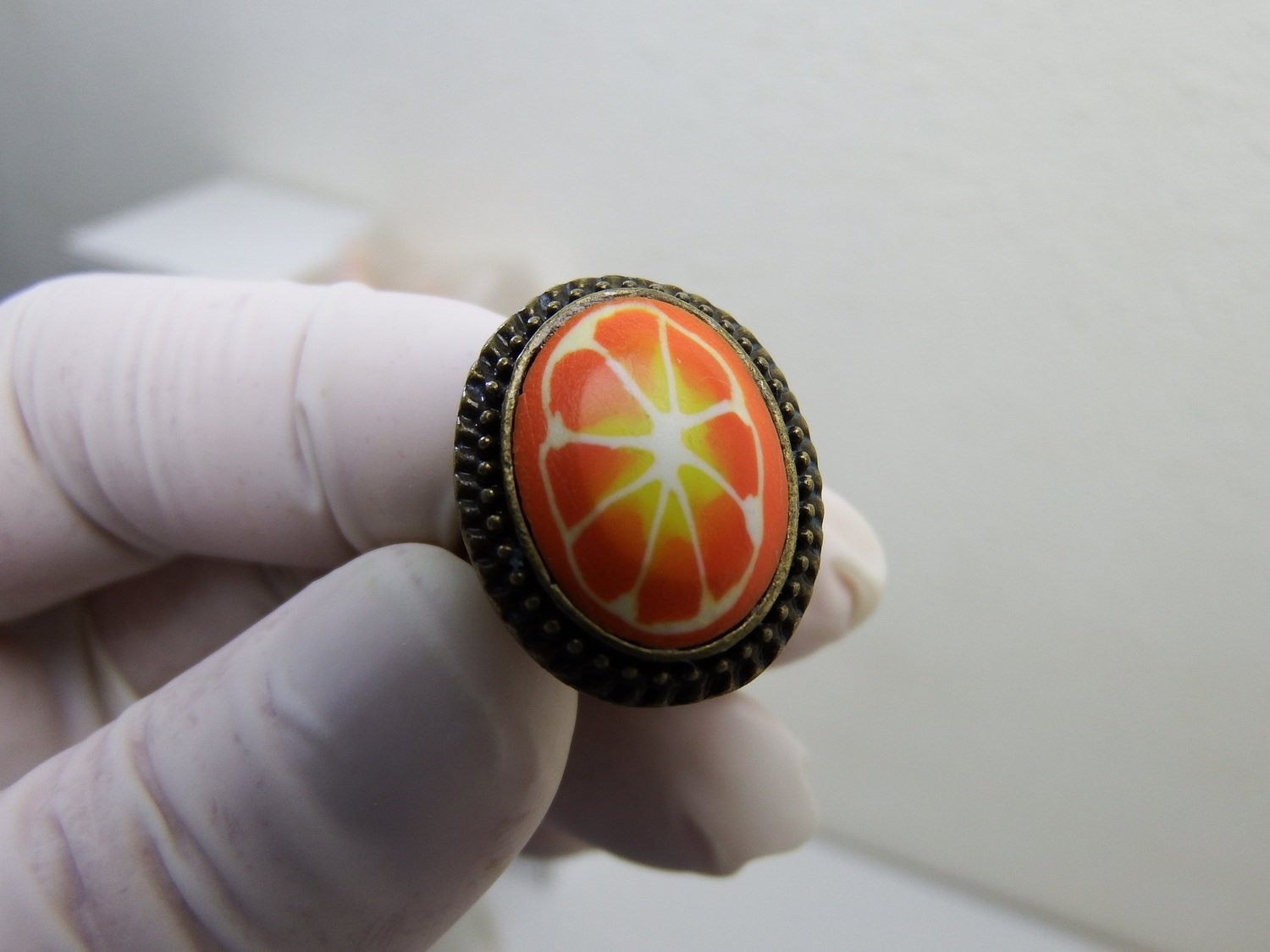 0013 - Bague - Tranche d'orange