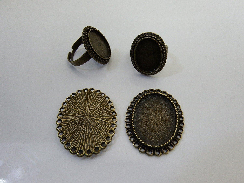 0064 - Apprêts - Bagues et pendentifs dentelés