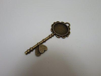 0103 - Apprêts - Clé romantique bronze