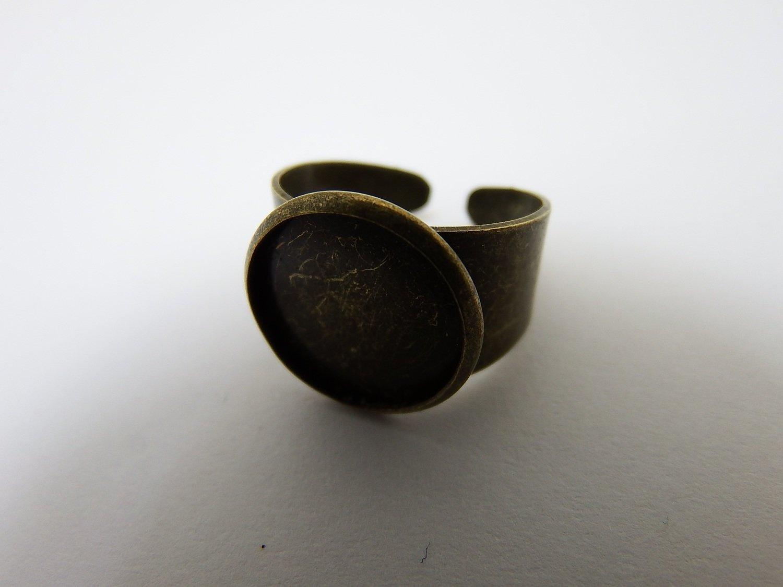 0117 - Apprêts - Bague réglable - Bronze - Ronde