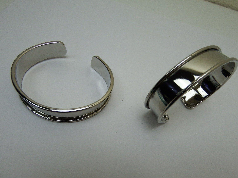 0132 - Apprêts - Support Bracelet réglable - Zone 1cm - Argenté