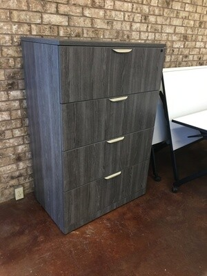 Four Drawer Lateral File In Newport Gray