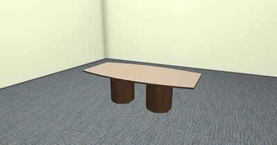 Boat Shaped Conference Table, 8 ' Long, Seats Eight Peple