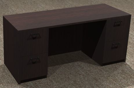 Kneespace Credenza 24x66, Double Ped