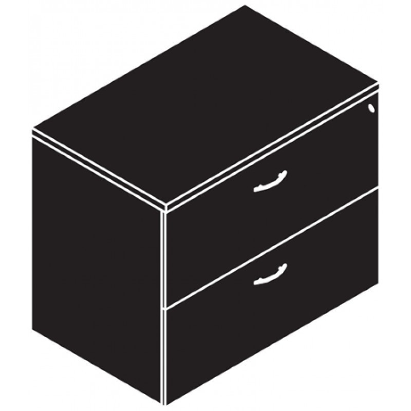 "Storage, Lateral File, 2 Drawer, 36"" Wide"