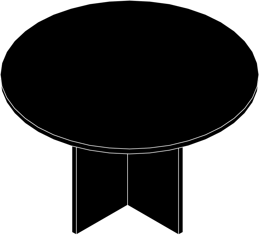 "Table, Round, 42"" Diameter"