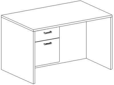 Rectangular Desk 30x48, Suspended Ped