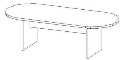 8ft Conference Table, Racetrack (42