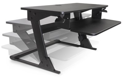 AscenDesk Adjustable Sit-Stand Desktop Workstation