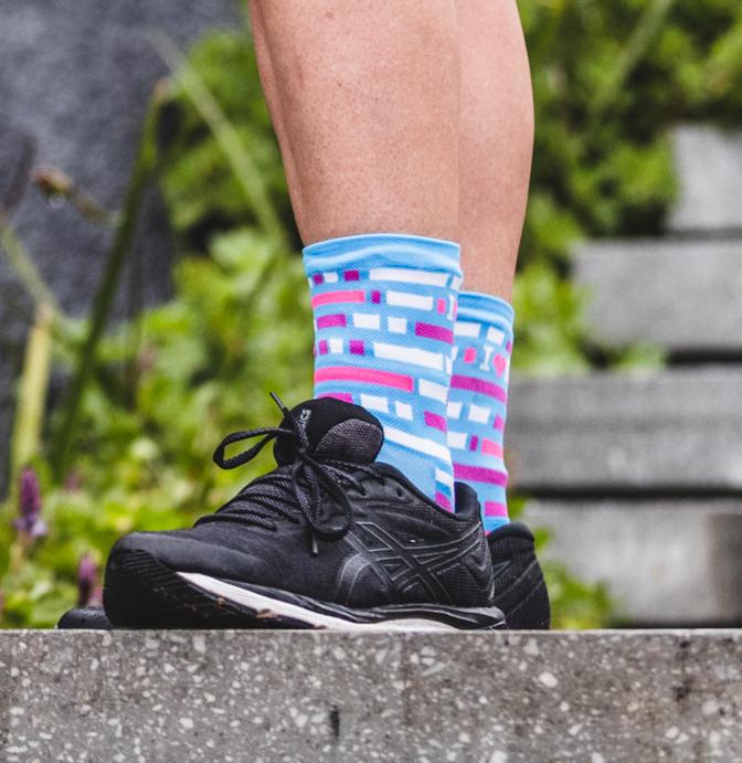 Blue Block Socks 80004