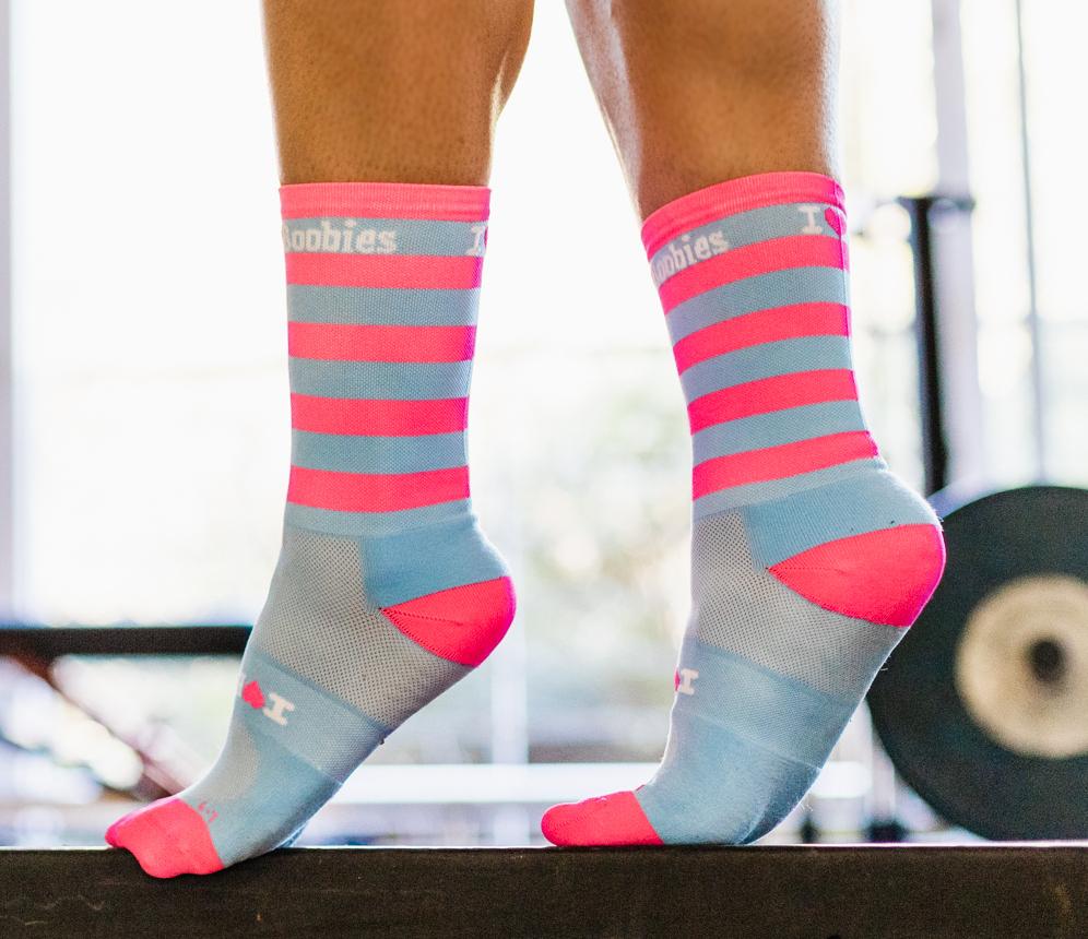 New Pink & Blue Socks 80024