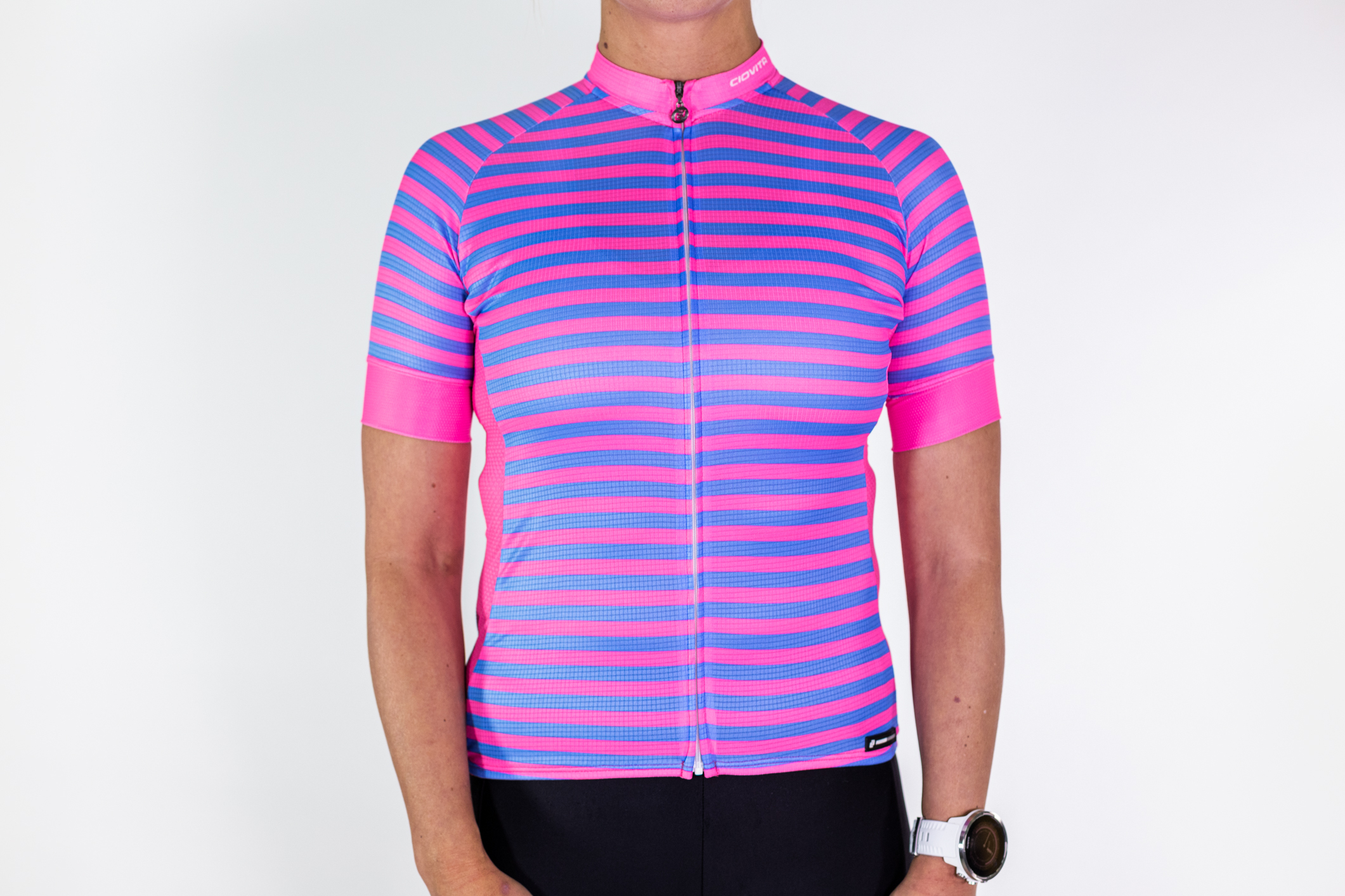 Sportsfit Pink & Blue Cycling Jersey P001