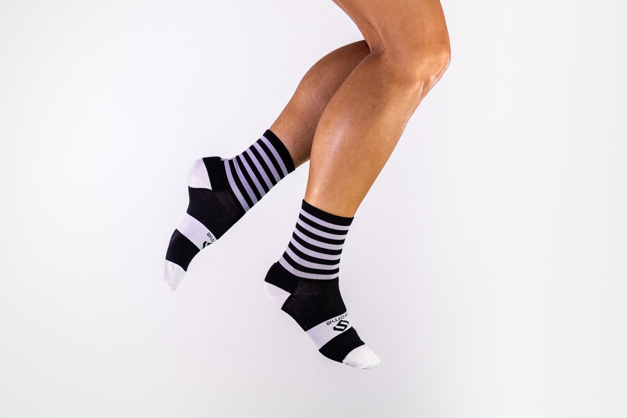 Thick striped socks P019
