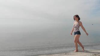 Woman on beach 5