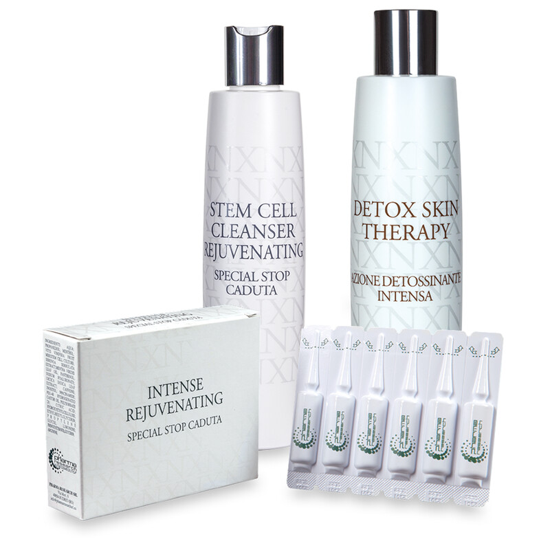 Trattamento per la caduta dei capelli: XN Stem Cell Cleanser Rejuvenating + XN Detox Skin Therapy + fiale XN Intense Rejuvenating