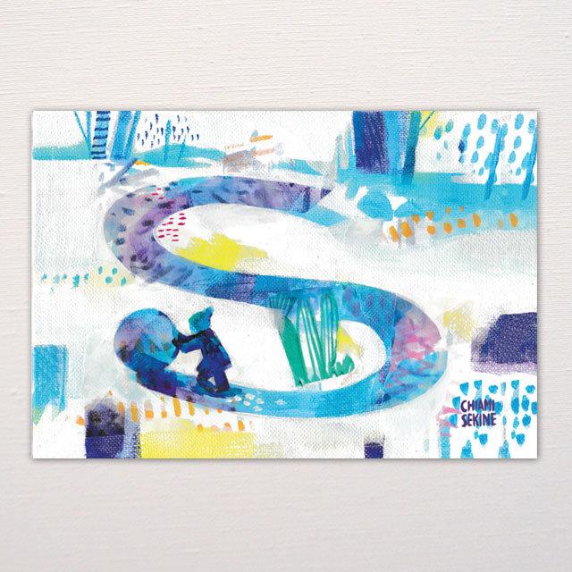 Postcard  Snow 00000