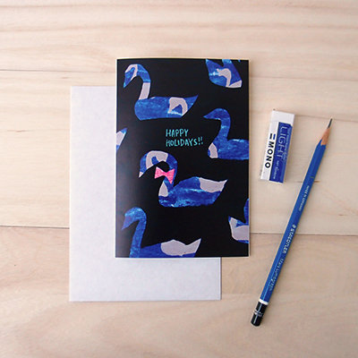 Swan Holiday Card 00004